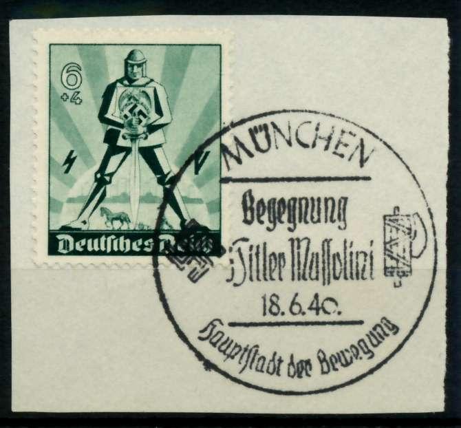 3. REICH 1940 Nr 745 zentrisch gestempelt Briefst³ck 6F4AA2