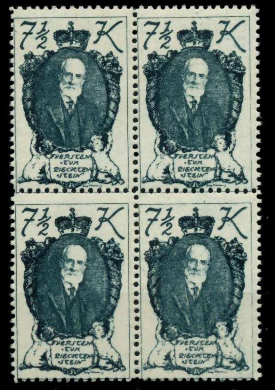 LIECHTENSTEIN 1920 Nr 38 postfrisch VIERERBLOCK 6FBF82