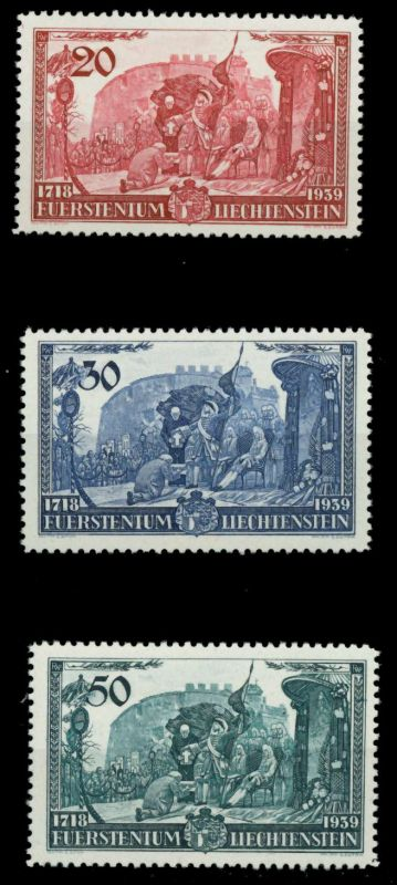 LIECHTENSTEIN 1939 Nr 180-182 postfrisch 6FE42A
