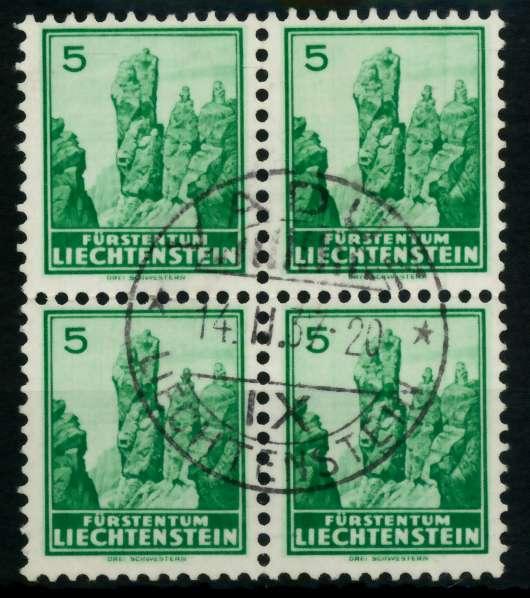 LIECHTENSTEIN 1934 Nr 127x zentrisch gestempelt VIERERBLOCK 6FE522