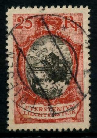 LIECHTENSTEIN 1921 Nr 54aB zentrisch gestempelt 7000C6