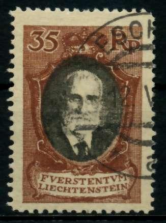 LIECHTENSTEIN 1921 Nr 56B gestempelt 7000D6