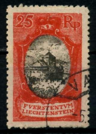 LIECHTENSTEIN 1921 Nr 54aB gestempelt 7000DA