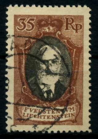 LIECHTENSTEIN 1921 Nr 56B gestempelt 700102