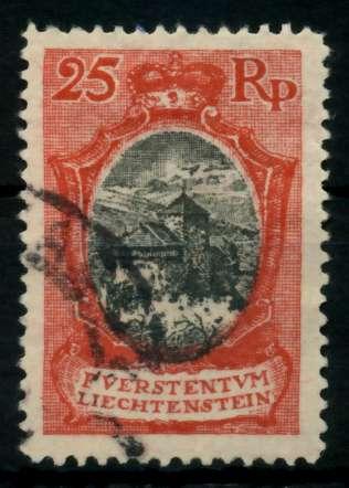 LIECHTENSTEIN 1921 Nr 54aB gestempelt 700112