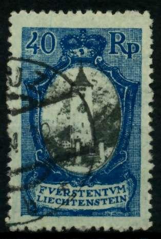 LIECHTENSTEIN 1921 Nr 57 gestempelt 700116