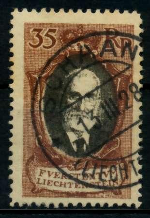 LIECHTENSTEIN 1921 Nr 56B gestempelt 70012A