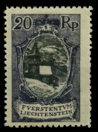 LIECHTENSTEIN 1921 Nr 53A ungebraucht 700132