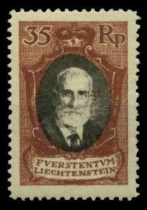 LIECHTENSTEIN 1921 Nr 56B postfrisch 700136