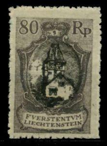 LIECHTENSTEIN 1921 Nr 59A ungebraucht 70013A