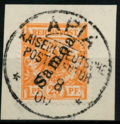 SAMOA Nr 5 zentrisch gestempelt Briefst³ck gepr. 705A82