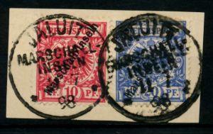 MARSHALL-INSELN Nr 3I-SCH 4I-SCH zentrisch gestempelt Briefst³ck 705AA6