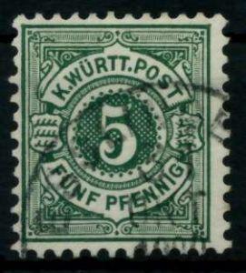 WÜRTTEMBERG Nr 56a gestempelt 7138B6
