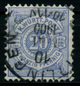 WÜRTTEMBERG Nr 47a gestempelt 713982