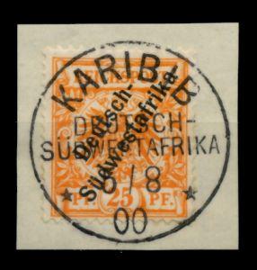 DSW Nr 9b zentrisch gestempelt Briefst³ck ATTEST 713A96