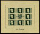 ÖSTERR. 1946 Nr 772B 775B-KB postfrisch RENNERBLOCK 7166BA
