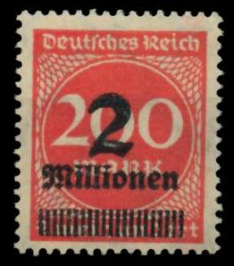 D-REICH INFLA Nr 309APa postfrisch 724A72