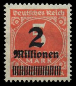 D-REICH INFLA Nr 312Aa postfrisch 724A86