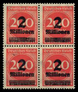 D-REICH INFLA Nr 309APa postfrisch VIERERBLOCK 724A96