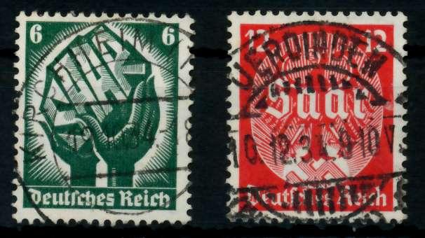 3. REICH 1934 Nr 544-545 zentrisch gestempelt 7294A6