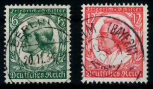 3. REICH 1934 Nr 554-555 gestempelt 7294DE