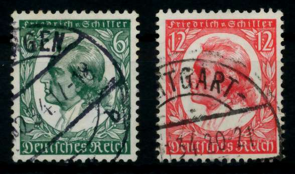 3. REICH 1934 Nr 554-555 gestempelt 729526