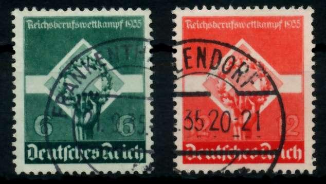3. REICH 1935 Nr 571-572 gestempelt 72959A