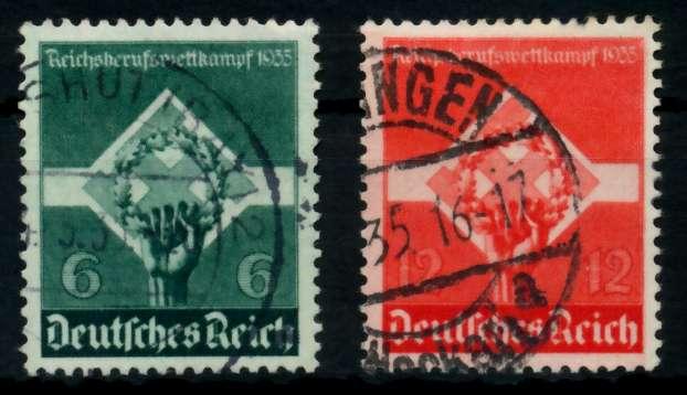 3. REICH 1935 Nr 571-572 gestempelt 7295AA