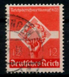 3. REICH 1935 Nr 572y gestempelt gepr. 7295BA