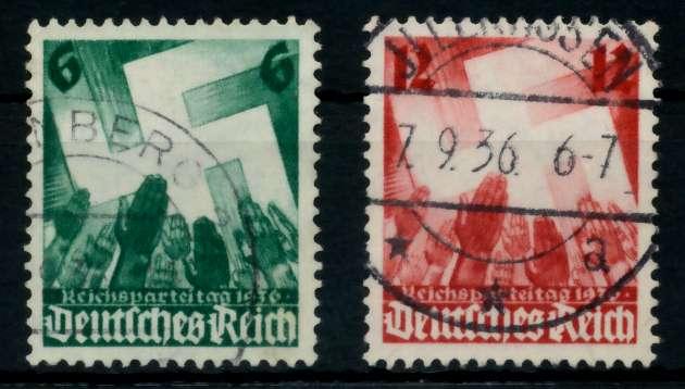 3. REICH 1936 Nr 632-633 gestempelt 7297EE