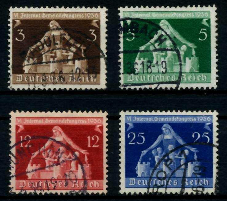 3. REICH 1936 Nr 617-620 gestempelt 7297F2