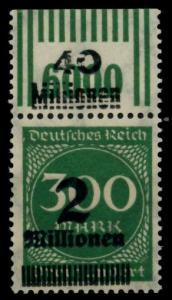 D-REICH INFLA Nr 310 OPD Gf W OR 2-9-2 postfrisch ORA g 72B61A