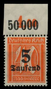 D-REICH INFLA Nr 277P OR postfrisch ORA 72B66A