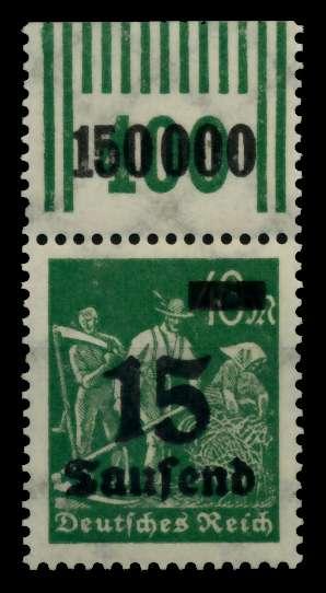 D-REICH INFLA Nr 279bW OR 2-9-2 postfrisch ORA 72B6AA 0