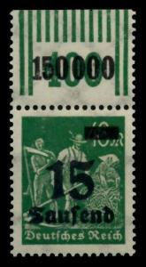 D-REICH INFLA Nr 279bW OR 2-9-2 postfrisch ORA 72B6AA