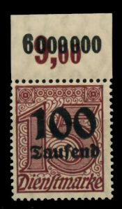 D-REICH DIENST Nr 92 P OR postfrisch ORA 72B8A6