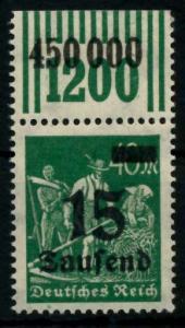 D-REICH INFLA Nr 279bW OR 2-9-2 postfrisch ORA 72B8F6