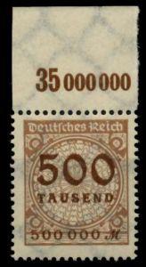 D-REICH INFLA Nr 313AP OR A postfrisch ORA 72DA92