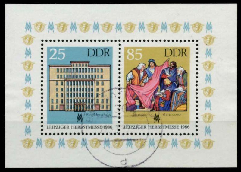 DDR BLOCK KLEINBOGEN Block 85 gestempelt 73A1B2