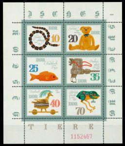 DDR BLOCK KLEINBOGEN Nr 2661KB-2666KB-LIndgz postfrisch S29790A