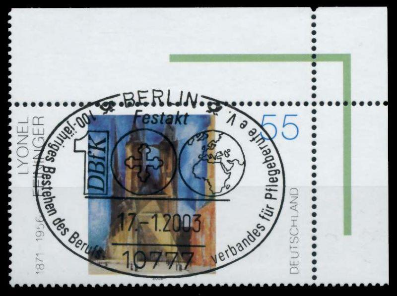 BRD 2002 Nr 2294 zentrisch gestempelt ECKE-ORE 767DD2