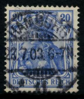 D-REICH GERMANIA Nr 72a zentrisch gestempelt 726DDA
