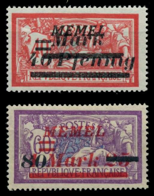 MEMEL 1922 Nr 119-120 ungebraucht 76CF16