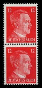 3. REICH 1942 Nr 827 postfrisch SENKR PAAR 78022E