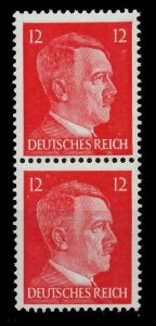 3. REICH 1942 Nr 827 postfrisch SENKR PAAR 78025E