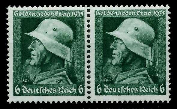 3. REICH 1935 Nr 569y postfrisch WAAGR PAAR 780412