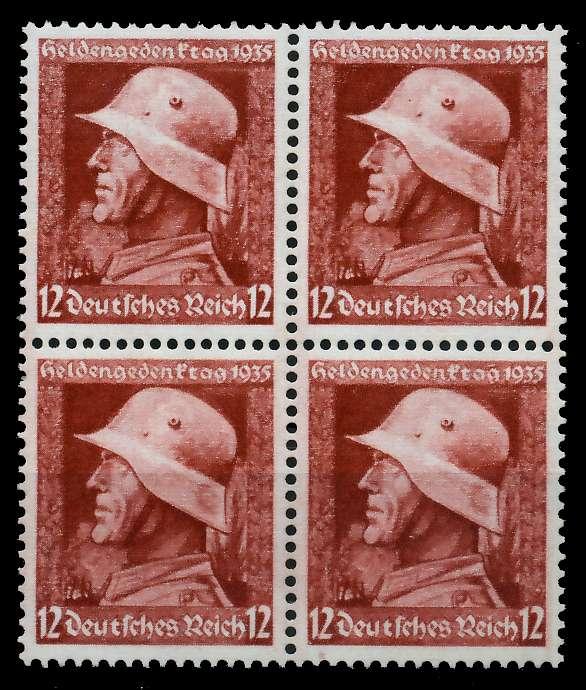 3. REICH 1935 Nr 570y postfrisch VIERERBLOCK 78041A