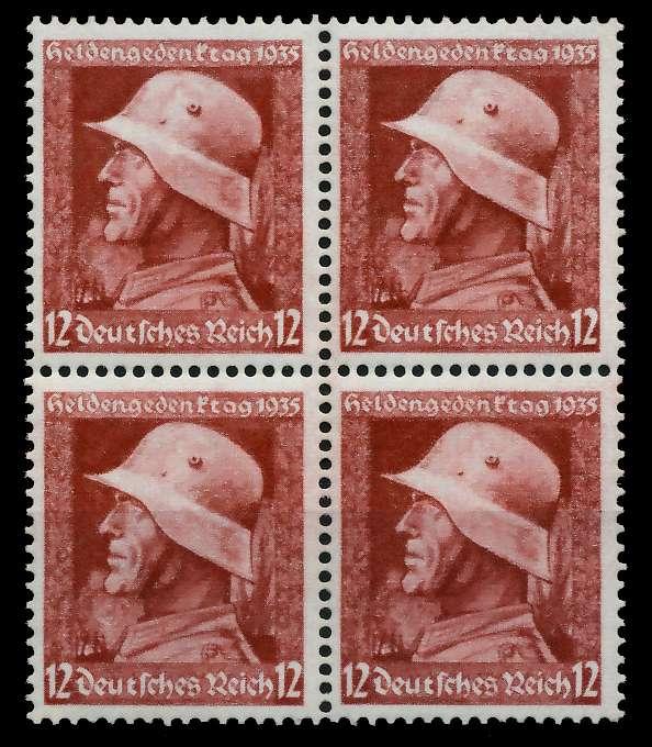 3. REICH 1935 Nr 570y postfrisch VIERERBLOCK 78041E