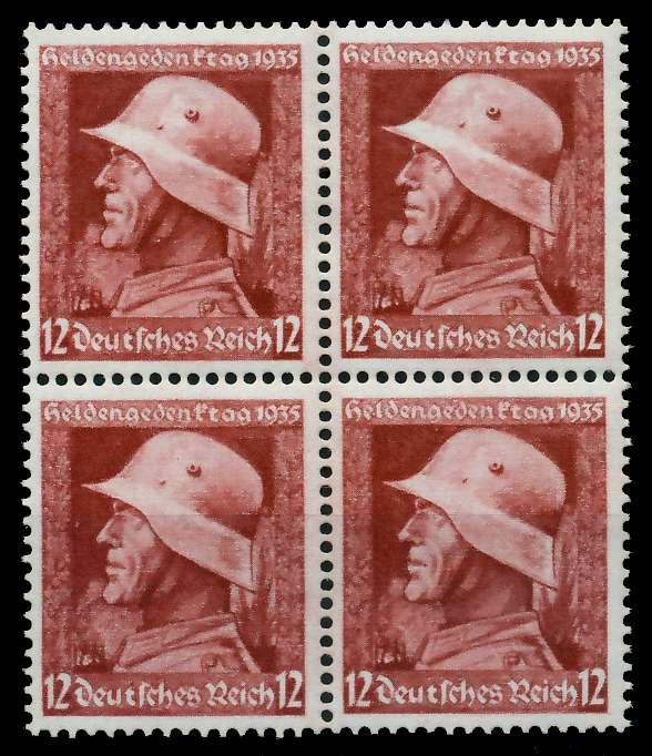 3. REICH 1935 Nr 570y postfrisch VIERERBLOCK 780432