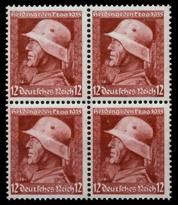 3. REICH 1935 Nr 570y postfrisch VIERERBLOCK 780442
